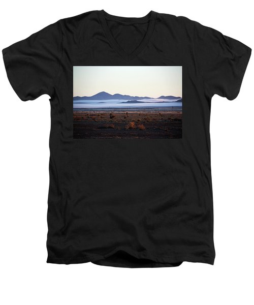 Fog In The Peloncillo Mountains Men's V-Neck T-Shirt