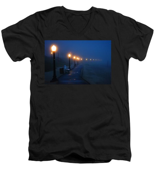 Foggy Boardwalk Blues Men's V-Neck T-Shirt
