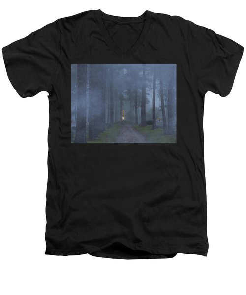 Foggy Hallowed Ground Men's V-Neck T-Shirt by Kimo Fernandez