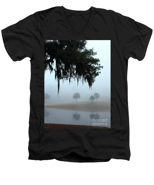 Foggy Morn Reflections Men's V-Neck T-Shirt
