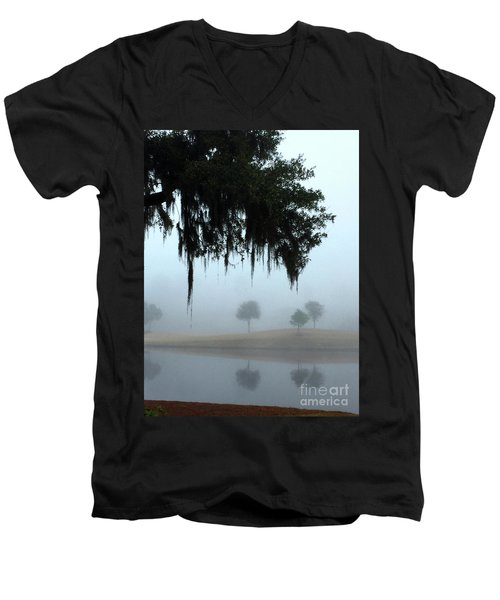 Foggy Morn Reflections Men's V-Neck T-Shirt