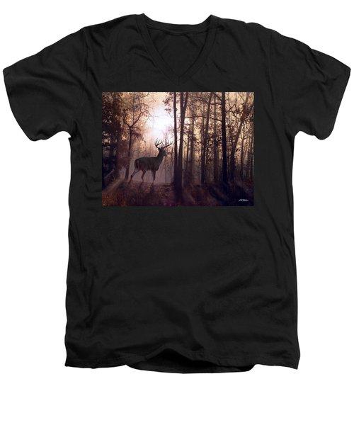 Foggy Morning In Missouri Men's V-Neck T-Shirt