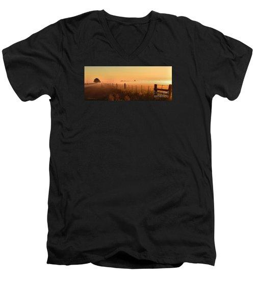 Foggy Sunrise On Hawkins Rd Men's V-Neck T-Shirt