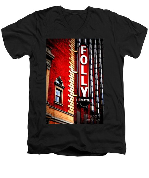Folly Theater Men's V-Neck T-Shirt
