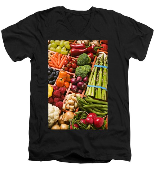 Food Compartments  Men's V-Neck T-Shirt by Garry Gay
