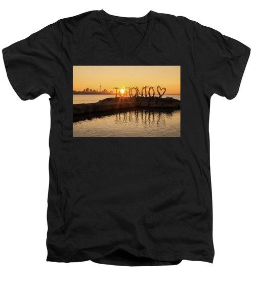 For The Love Of Toronto Men's V-Neck T-Shirt
