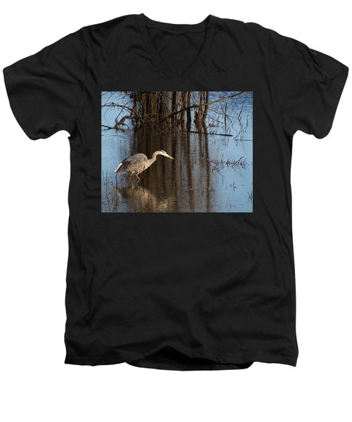Foraging Men's V-Neck T-Shirt by I'ina Van Lawick