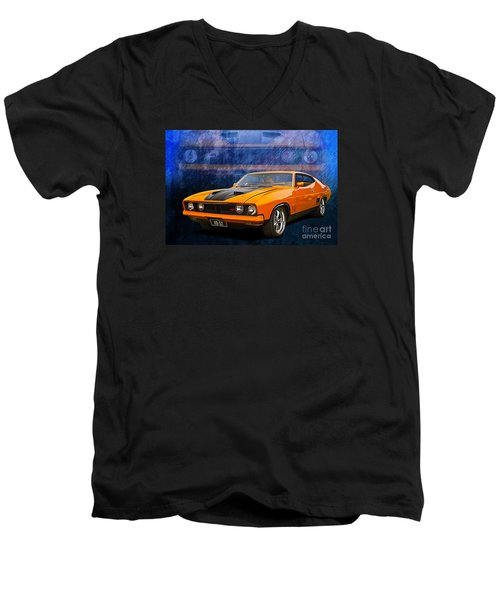Ford Falcon Xb 351 Gt Coupe Men's V-Neck T-Shirt