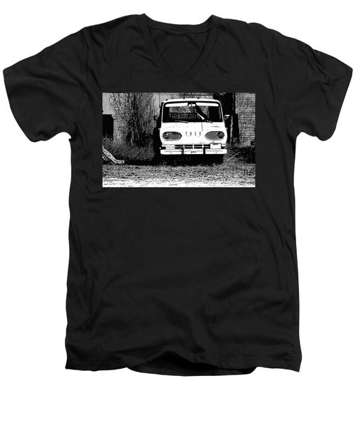 Ford Sketched In Black And White Men's V-Neck T-Shirt by Renie Rutten