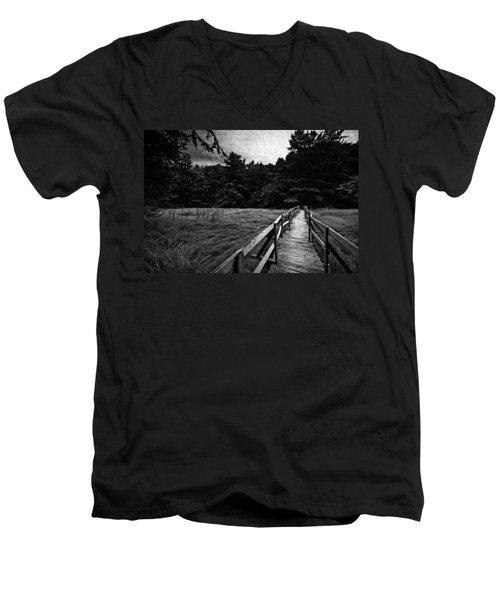 Fore River Marsh Men's V-Neck T-Shirt