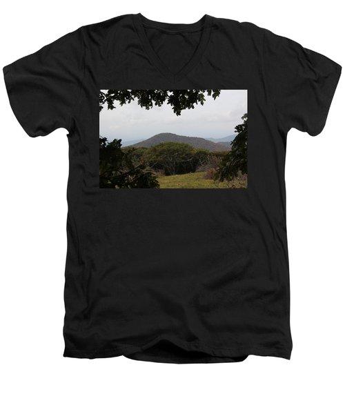 Forest Dark Space Men's V-Neck T-Shirt