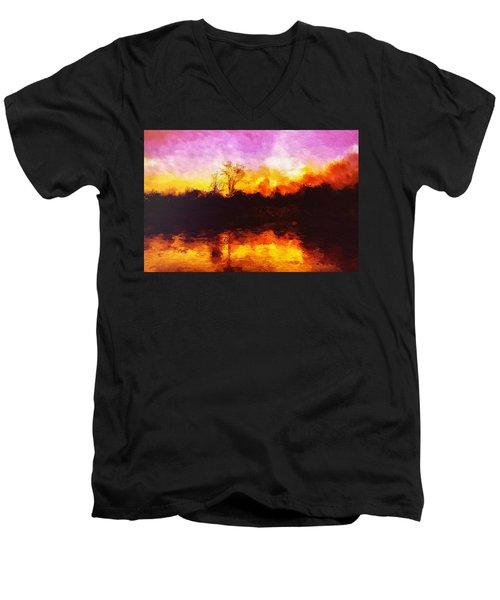 Forest Fire Men's V-Neck T-Shirt