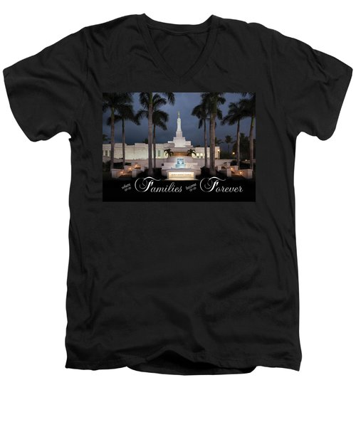 Forever Families Men's V-Neck T-Shirt by Denise Bird