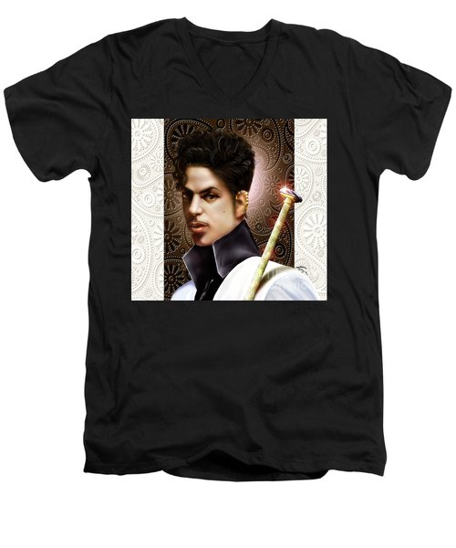 Forevermore The Young Prince Of Paisley 1a Men's V-Neck T-Shirt