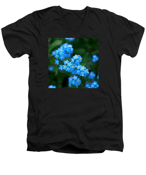 Forget -me-not 5 Men's V-Neck T-Shirt by Jouko Lehto