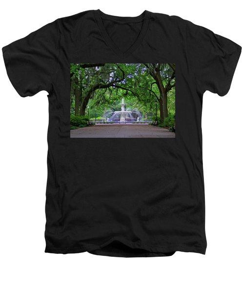 Forsyth Park Men's V-Neck T-Shirt by Jean Haynes