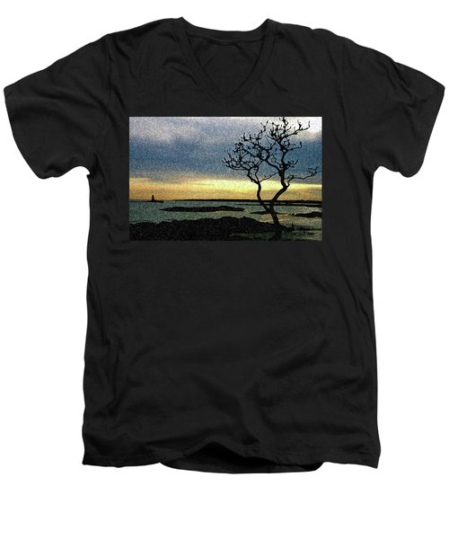 Fort Foster Tree Men's V-Neck T-Shirt