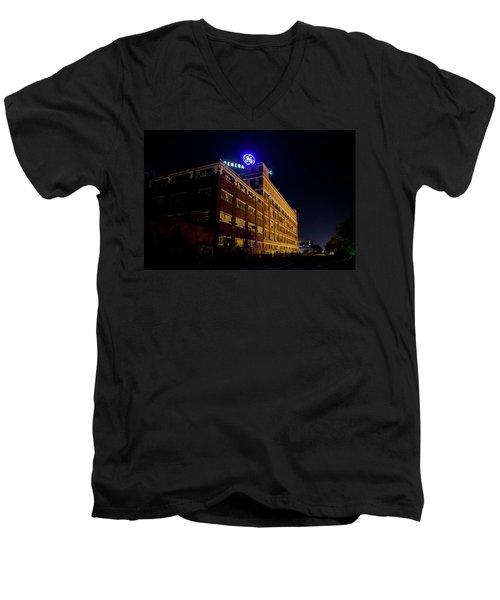 Fort Wayne In Ge Building - Jpmmedia.com Men's V-Neck T-Shirt