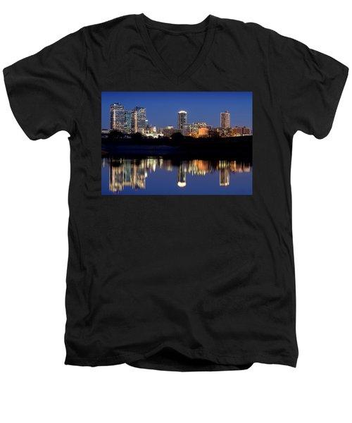 Fort Worth Reflection 41916 Men's V-Neck T-Shirt