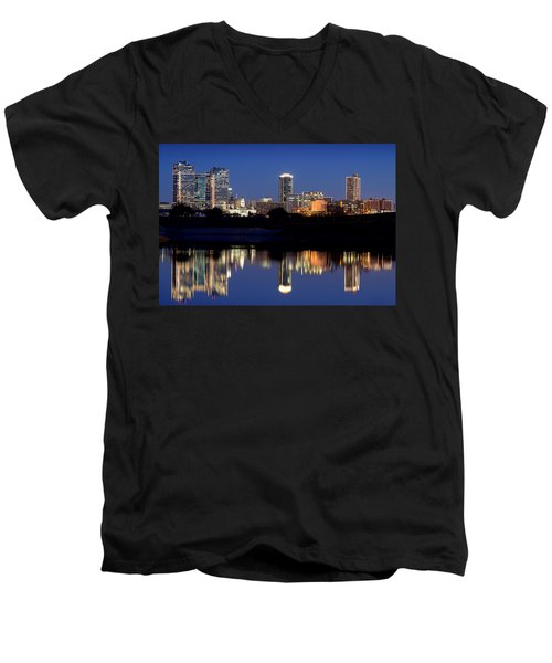 Fort Worth Reflection 41916 Men's V-Neck T-Shirt