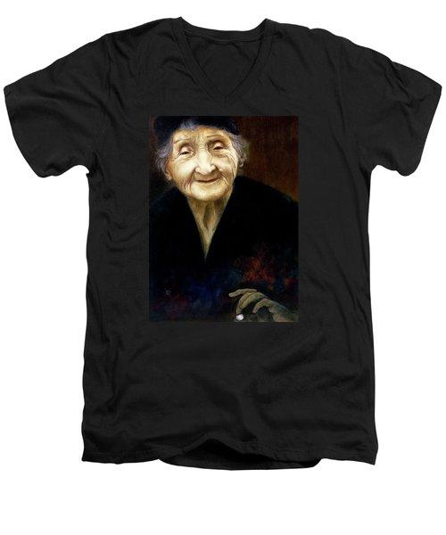 Fortune Teller Men's V-Neck T-Shirt by Yvonne Wright