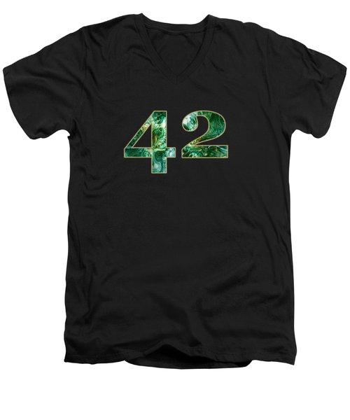 Forty Two Men's V-Neck T-Shirt