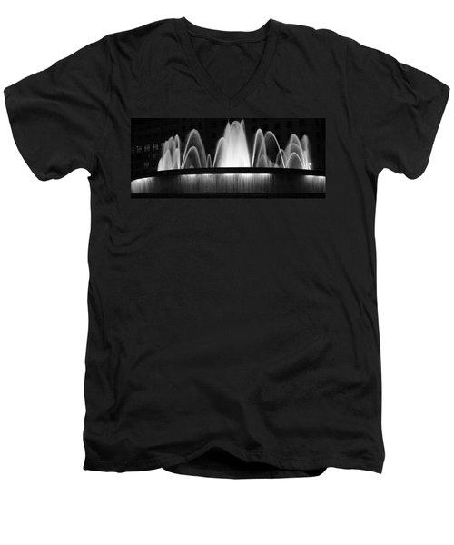 Fountain In Barcelona Men's V-Neck T-Shirt