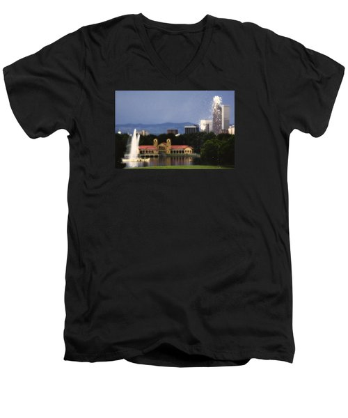 Fountains Men's V-Neck T-Shirt