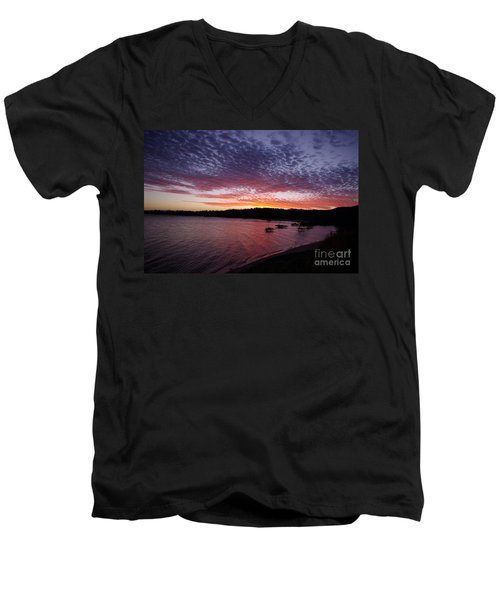 Four Elements Sunset Sequence 1 Coconuts Qld  Men's V-Neck T-Shirt by Kerryn Madsen - Pietsch