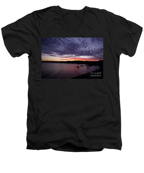Four Elements Sunset Sequence 7 Coconuts Qld  Men's V-Neck T-Shirt by Kerryn Madsen - Pietsch