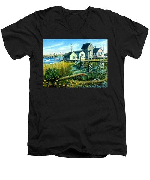 High Tide In Broad Channel, N.y. Men's V-Neck T-Shirt