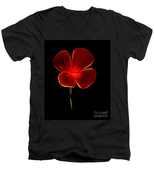 Four Petals Men's V-Neck T-Shirt by Steven Parker