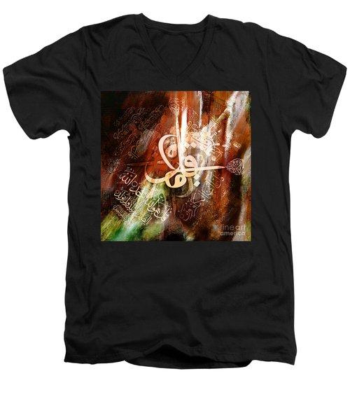 four Qul Men's V-Neck T-Shirt by Gull G