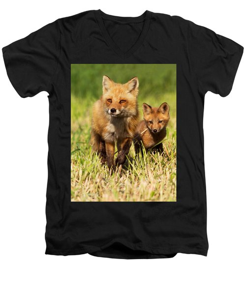 Fox Family Men's V-Neck T-Shirt