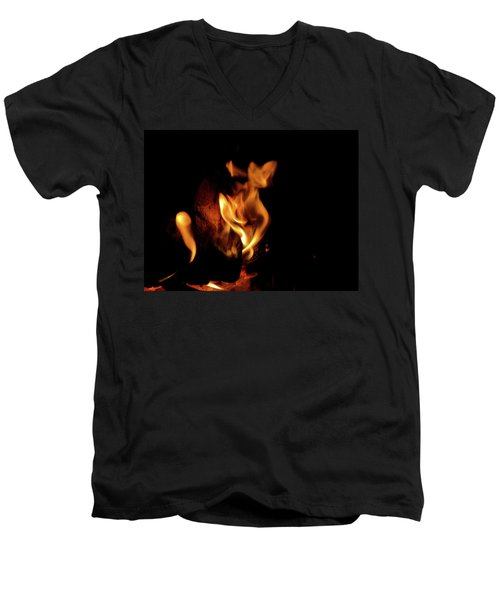 Fox Fire Men's V-Neck T-Shirt