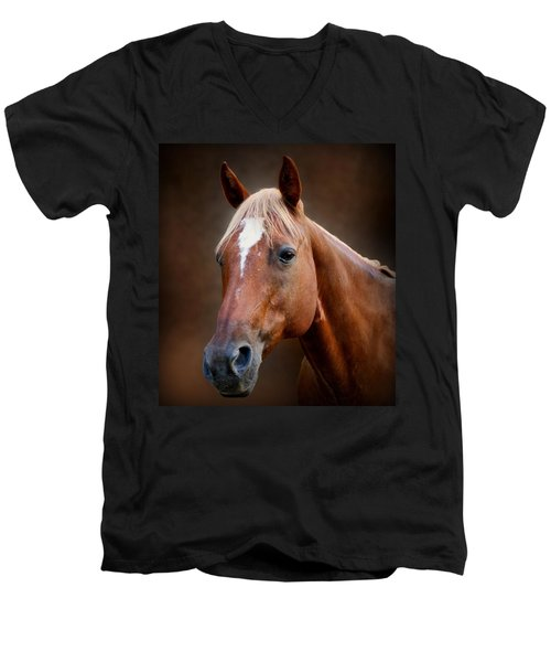 Fox - Quarter Horse Men's V-Neck T-Shirt