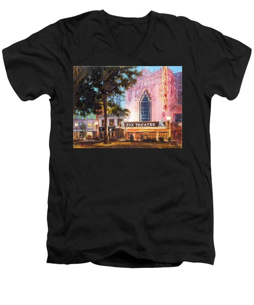 Fox Theatre In St.louis Men's V-Neck T-Shirt