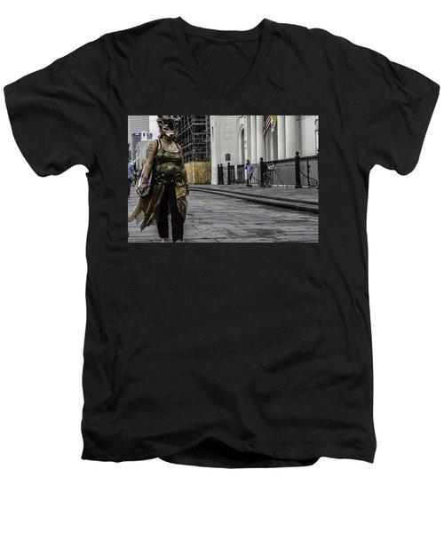 Foxy Lady, New Orleans, Louisiana Men's V-Neck T-Shirt