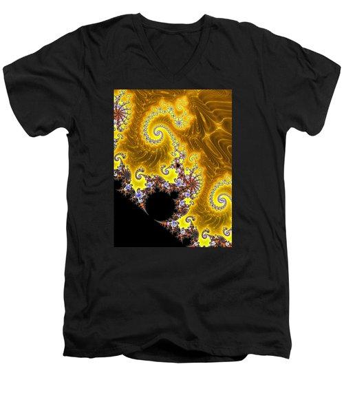Men's V-Neck T-Shirt featuring the photograph Fractal Coastline by Ronda Broatch