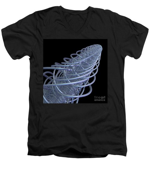 Fractal Comet Men's V-Neck T-Shirt