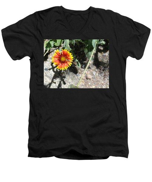 Fragile Floral Life On The Trail Men's V-Neck T-Shirt