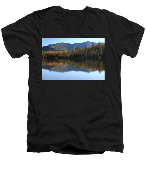 Franconia Ridge From Lonesome Lake Men's V-Neck T-Shirt