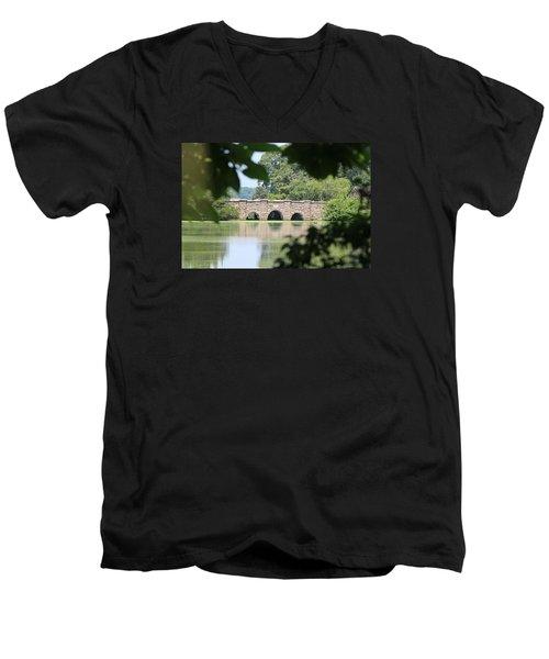 Frank Melville Memorial Park Setauket New York Men's V-Neck T-Shirt by Bob Savage