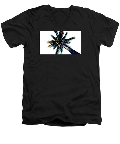Frazzled Palm Tree Men's V-Neck T-Shirt