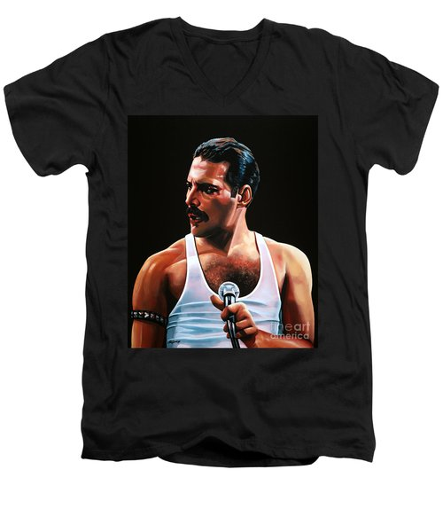 Freddie Mercury Men's V-Neck T-Shirt