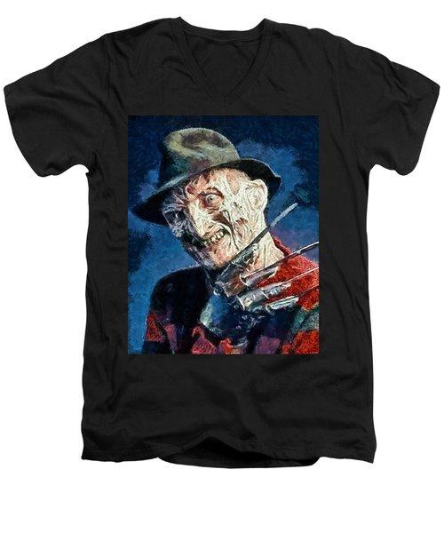 Freddy Kruegar Men's V-Neck T-Shirt