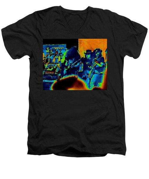 Free Bird Pastel Oakland 1 Men's V-Neck T-Shirt
