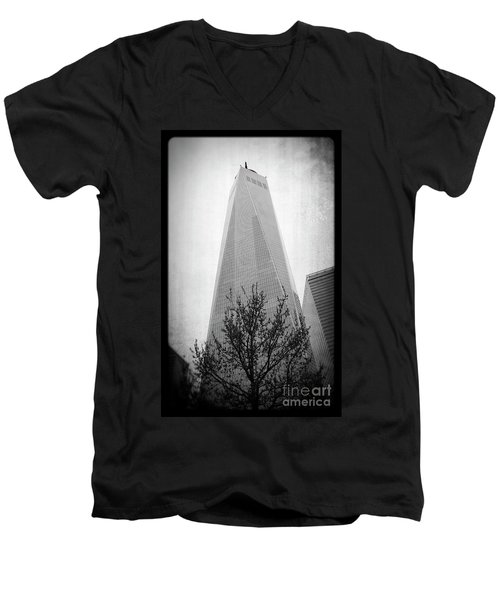 Men's V-Neck T-Shirt featuring the photograph Freedom Tower 2 by Paul Cammarata