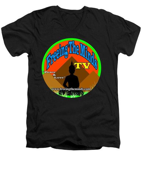 Freeing The Minds Supporter Men's V-Neck T-Shirt