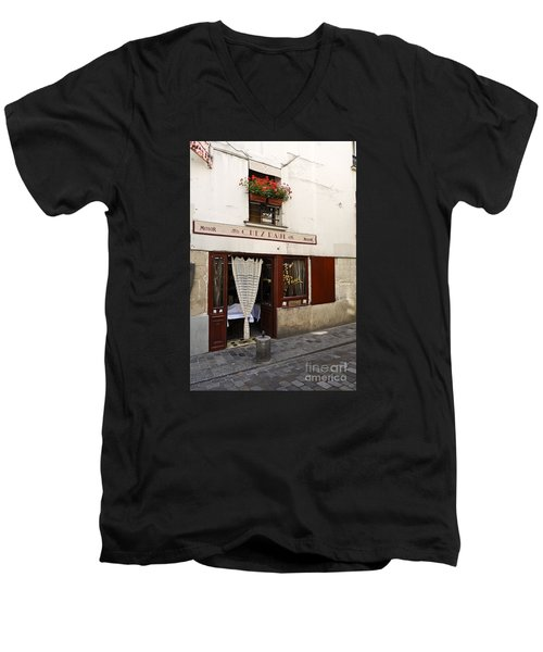 French Bistro Men's V-Neck T-Shirt